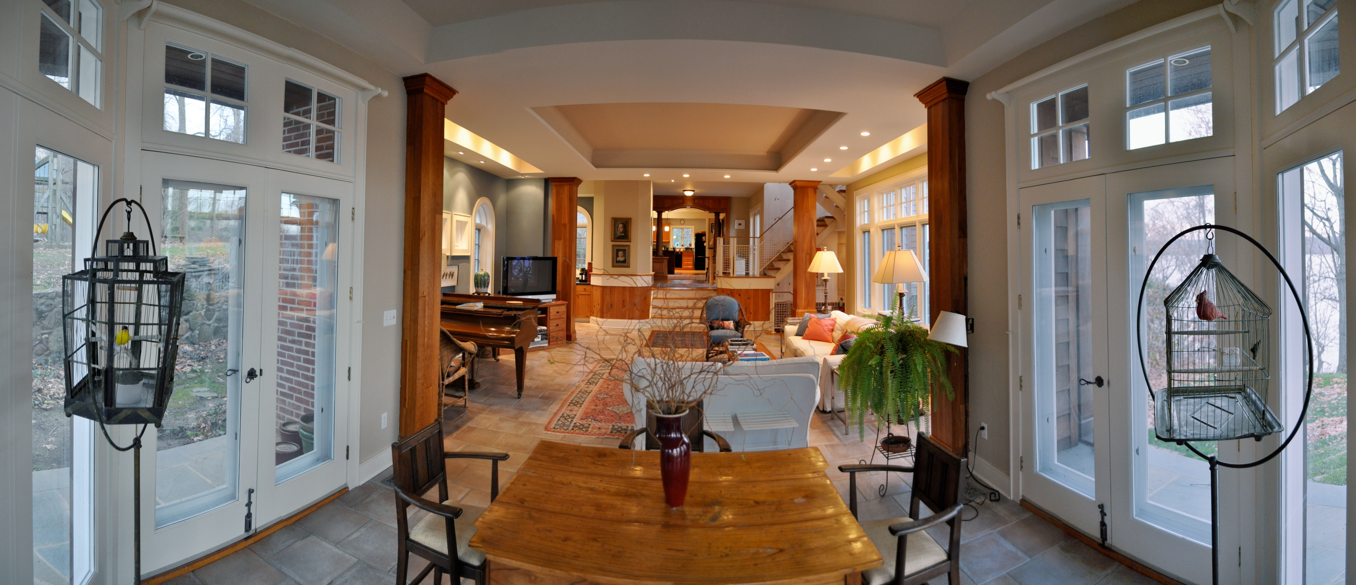 Real estate photograph of a living room set.