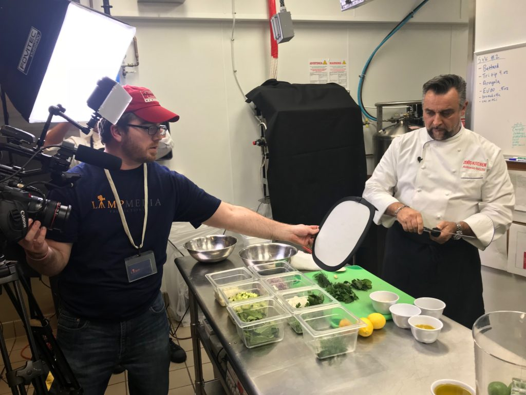Shooting for The Food Network