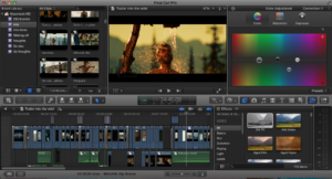 Editing on Final Cut photo