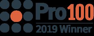 Pro 100 2019 Winner Horizontal Logo